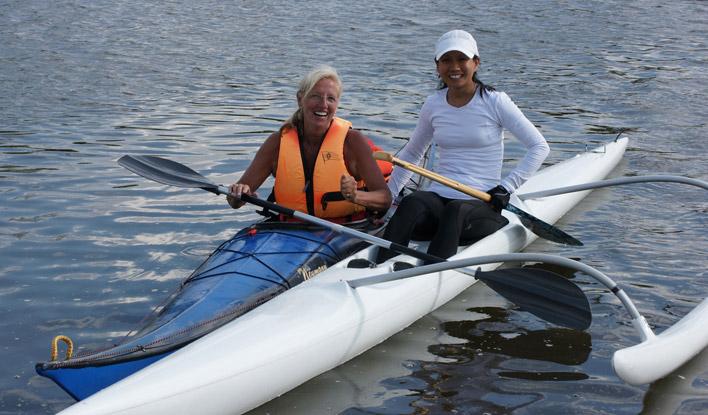 Outrigger paddeln ist ein beliebter Sport beim Frankfurter Kanu-Verein